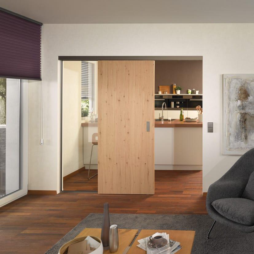 moderne schiebet re aus eichenholz mit edelstahl bauwiki. Black Bedroom Furniture Sets. Home Design Ideas